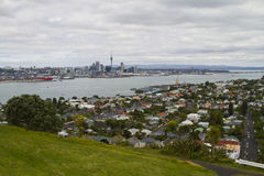 Auckland skyline. View from Devonport. New Zealand Royalty Free Stock Photography