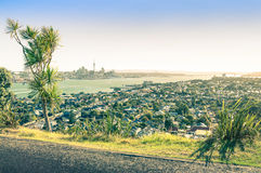 Auckland skyline area from Mount Victoria in Devonport Royalty Free Stock Photography