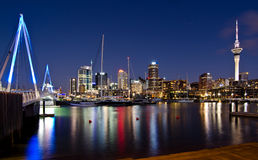 Auckland, Skyline with bridge Royalty Free Stock Photo