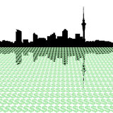 Auckland skyline with dollars Stock Photography