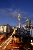 Auckland Skyline At Dusk. This photo was taken of the auckland skyline at dusk Stock Images