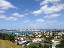 Auckland skyline. From Mount Victoria Royalty Free Stock Image