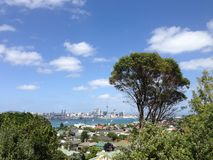 Auckland skyline. From Mount Victoria Royalty Free Stock Photos