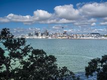 Auckland, Skyline in New Zealand Royalty Free Stock Photo