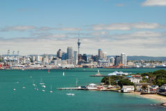 Auckland skyline. New Zealand. Auckland skyline. View from Devonport. New Zealand Royalty Free Stock Photos