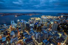 Auckland skyline New Zealand city scape stock image