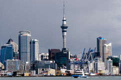 Auckland Skyline. AUCKLAND,NZ - MAY 30:Auckland Skyline on May 30 2013.It's the largest and most populous urban area in the country. It has 1,397,300 residents Stock Photo