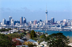 Auckland Skyline. AUCKLAND,NZ - MAY 27:Auckland Skyline on May 27 2013.It's the largest and most populous urban area in the country. It has 1,397,300 residents Royalty Free Stock Images