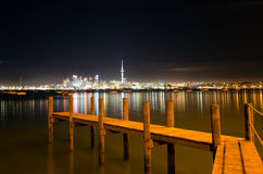 Auckland Skyline. AUCKLAND,NZ - MAY 30:Auckland Skyline at night on May 30 2013.It's the largest and most populous urban area in the country. It has 1,397,300 Royalty Free Stock Photography
