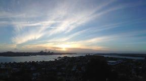 Auckland Skyline Panorama Stock Photo