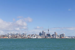 Auckland skyline seen from Devonport Royalty Free Stock Photography