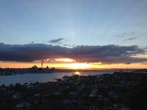 Auckland Skyline Sunset Royalty Free Stock Photo
