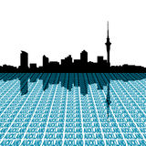 Auckland skyline with text Stock Image