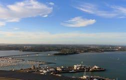 auckland skytower widok Zdjęcia Royalty Free