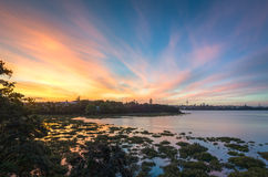 Auckland-Sonnenuntergang Stockbilder