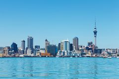auckland stad New Zealand royaltyfria foton