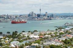 Auckland-Stadtskylineansicht Lizenzfreies Stockfoto