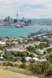 Auckland-Stadtskylineansicht Stockfotografie