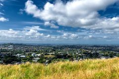 Auckland suburbs view from Mount Eden stock photo