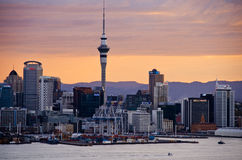 Auckland sunset Royalty Free Stock Photos