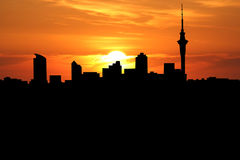 Auckland at sunset Royalty Free Stock Photography