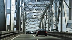Auckland suspension bridge. And car traffic Stock Images
