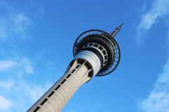 Auckland Tower. High Auckland Tower during sunny day in New Zealand Royalty Free Stock Images