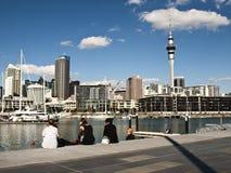 Auckland-Ufergegend, Neuseeland lizenzfreies stockbild