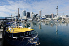 Auckland Viaduct Harbor Basin Stock Images
