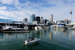 Auckland Viaduct Harbor Basin Stock Photo