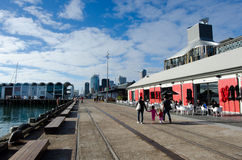 Auckland Viaduct Harbor Basin Stock Image