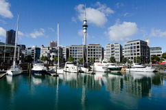 Auckland Viaduct Harbor Basin Stock Photography