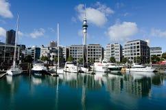 Auckland Viaduct Harbor Basin Stock Photography