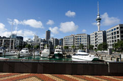 Auckland Viaduct Harbor Basin Royalty Free Stock Photography