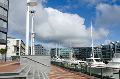 Auckland Viaduct Harbor Basin Stock Photo