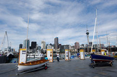 Auckland Viaduct Harbor Basin Royalty Free Stock Images