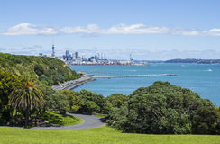 Auckland View from Mission Bay Auckland New Zealand. View to Mission Bay Wharf Royalty Free Stock Photos
