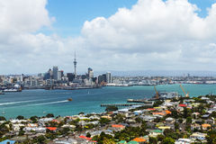 Auckland View from Mt Victoria Devonport Auckland New Zealand. Urban landscape of Devonport Suburb Stock Image