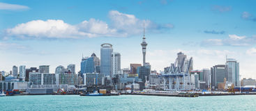 Auckland view at the noon. Skyline of Auckland with city central business district at the noon royalty free stock image