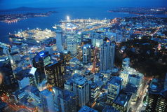 Auckland. View from the Sky tower, Auckland, New Zealand Stock Photos