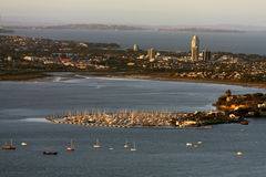 Auckland, View from skytower ,New Zealand Royalty Free Stock Image