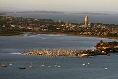 Auckland, vista da skytower, Nuova Zelanda immagine stock libera da diritti