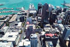 Auckland w centrum widok z lotu ptaka, Nowa Zelandia fotografia royalty free