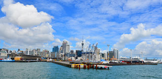 Auckland waterfront skyline - New Zealand Royalty Free Stock Photography