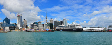 Auckland waterfront skyline - New Zealand Royalty Free Stock Images