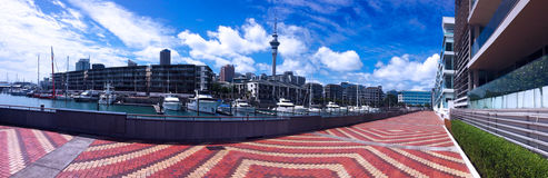 Auckland waterfront - skyline New Zealand Stock Image