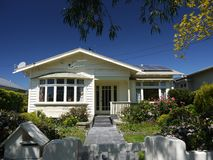 New Zealand: classic Auckland wooden bungalow home Royalty Free Stock Images
