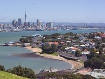 Auckland y puerto Fotografía de archivo