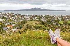 Auckland, Zealand novo 6 de dezembro de 2013 O poin da vista bonita Imagens de Stock Royalty Free