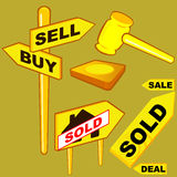Auction. Buy or sell sign stock illustration